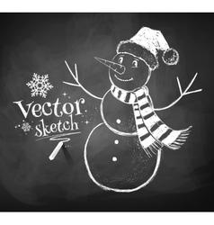 Cute snowman vector