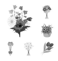 Design of spring and wreath logo vector