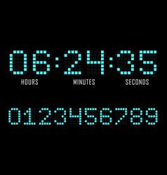 Digital alarm clock on white background vector