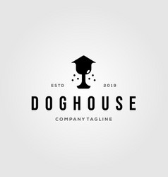 dog nose house pet home logo vintage design vector image
