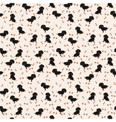 Dogs Dachshund Seamless pattern Dog vector image