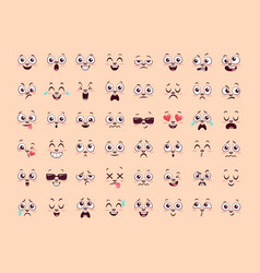 Emoji template collection vector