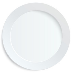Empty white plate on white background vector