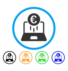 euro financial startup rounded icon vector image