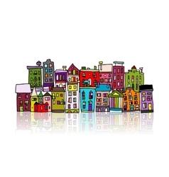 European city sketch for your design vector image vector image