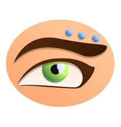Eyebrow piercing icon cartoon style vector