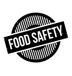 Food Safety rubber stamp vector