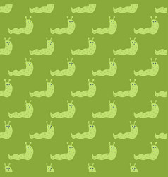 Garden wildlife snail seamless pattern fun vector