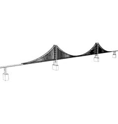Golden Gate Bridge - San Francisco vector image
