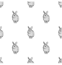 gray rabbitanimals single icon in monochrome vector image