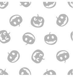 grey pattern of haloween pumpkins vector image