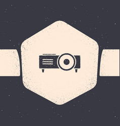 Grunge presentation movie film media projector vector