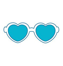 Hippie glasses icon vector