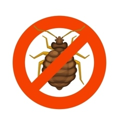 Home Bedbug Red Sign on White Background vector