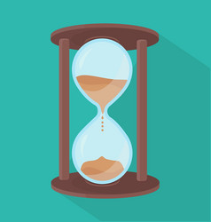 hourglass vintage flat style vector image