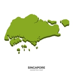 Isometric map of Singapore detailed vector