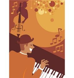 Jazz evening vector