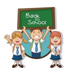Kids of back to school design vector image