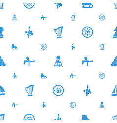 leisure icons pattern seamless white background vector image