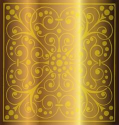 Luxury Vintage Floral Gold Metal Background vector