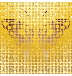 Mosaic butterfly vector