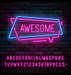 Neon light linear promotion ribbon banner price vector