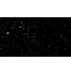 Night sky with bright stars vector