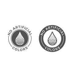 No artificial colors and dyes icon skin and body vector