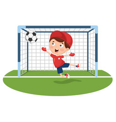 Of playing football vector