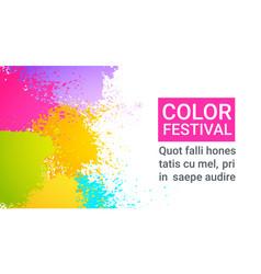 paint splash color festival happy holi india vector image