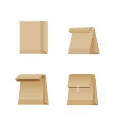 paper bag shopping bag collection icon vector image
