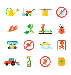 Pesticides Icons Set vector image