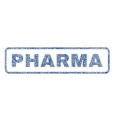 Pharma textile stamp vector