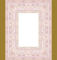 pink template for frame vector image