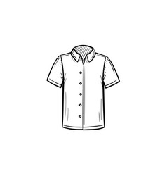 Polo shirt hand drawn sketch icon vector