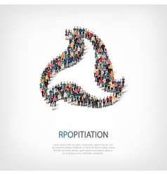 Propitiation people sign 3d vector