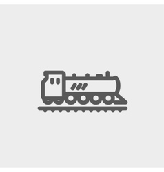 Railroad train thin line icon vector