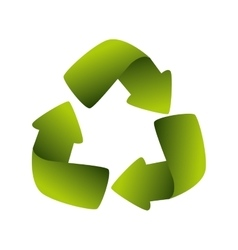 Recycling symbol green ecology vector