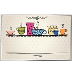Retro frame with cup vector