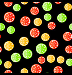 Seamless citrus pattern vector