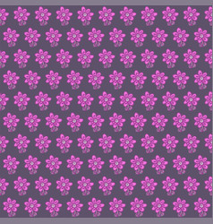 seamless pattern with flowers on gray background vector image