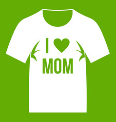 shirt with print icon green vector image