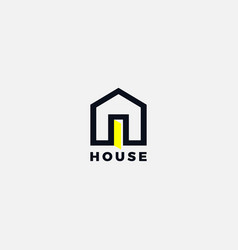 simple letter a house property logo sign symbol vector image