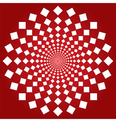 Spiral squares vector image