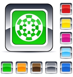 target square button vector image