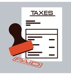 taxes payment vector image