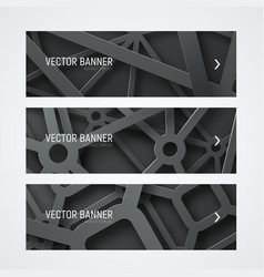 Templates banners with interwoven cobwebs from vector