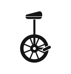 Unicycle icon in simple style vector