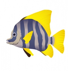 Vector tropical fish vector