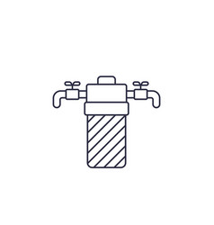water filter filtration system line icon vector image